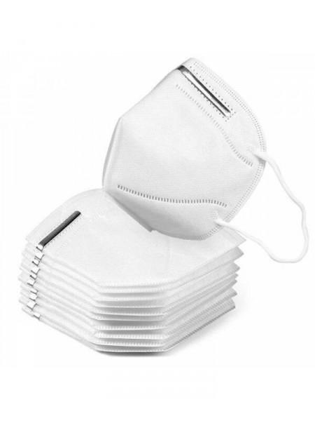 4 sluoksnių KN95 / FFP2 veido kaukė, respiratorius (5 vnt.)
