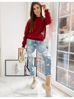 Džemperis (bordinės spalvos) Bella