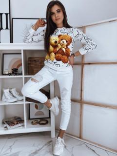 Džemperis (Baltas) Karmen stiliaus