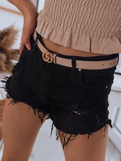 Moteriški džinsiniai šortai (Juodi) Almina