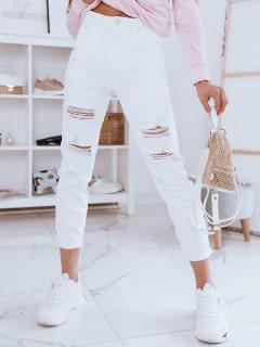 Moteriški džinsai (baltos spalvos) Doren
