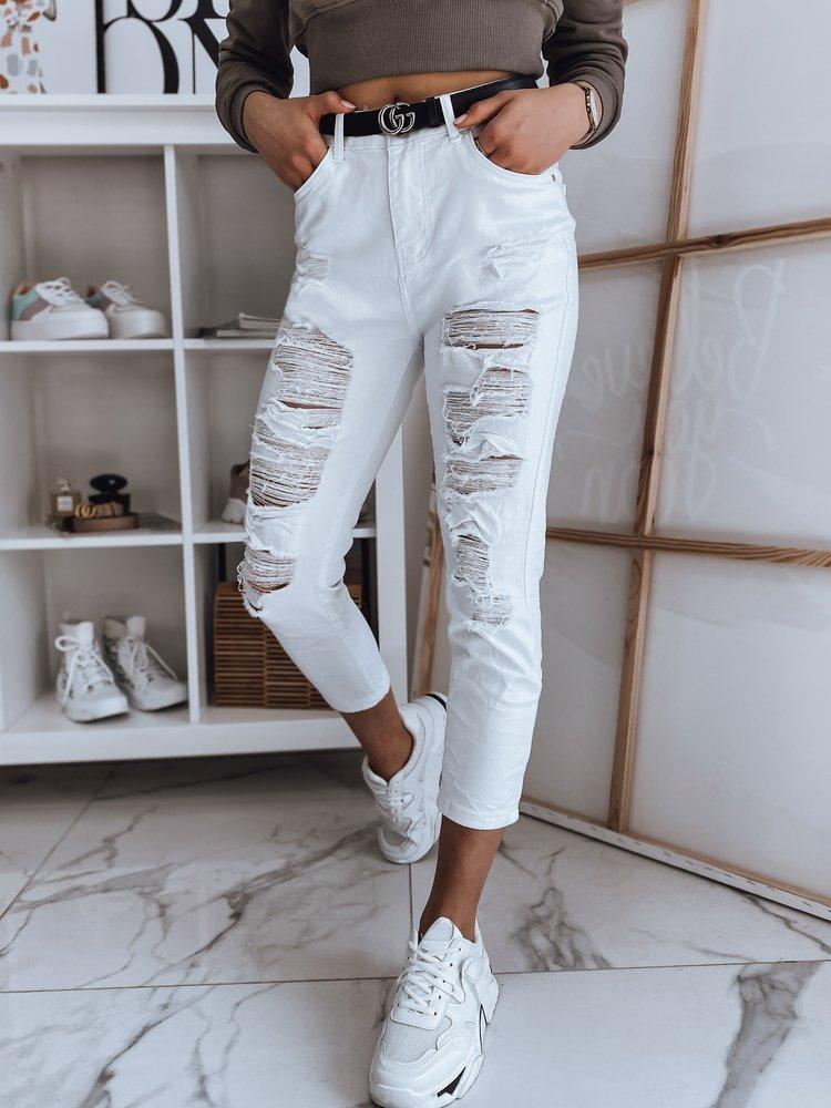 Moteriški džinsai (baltos spalvos) Delina