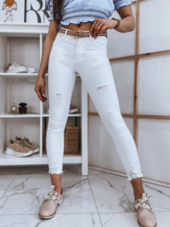 Moteriški džinsai (baltos spalvos) Danna