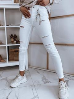 Moteriški džinsai (baltos spalvos) Jenifer