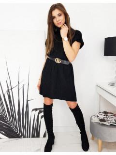 Megzta suknelė (Juoda) Siana