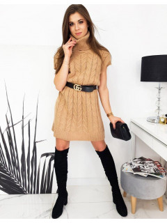Megzta suknelė (Karamelinė) Cami