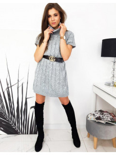 Megzta suknelė (šviesiai pilkos spalvos) Paula
