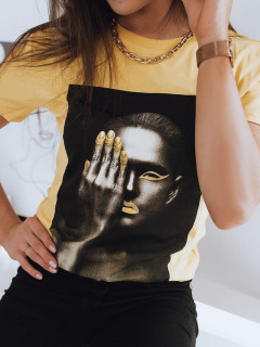 Moteriški marškinėliai (Geltoni) Benna