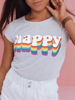 Moteriški marškinėliai (šviesiai pilkos spalvos) Delina