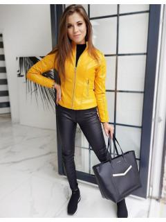 Moteriška odinė striukė Mendi (Geltona)