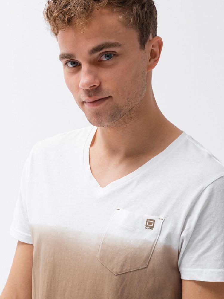 Vyriški marškinėliai S1380 (rudi) Harrison