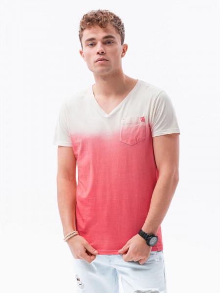 Vyriški marškinėliai S1380 ( raudoni) Evan