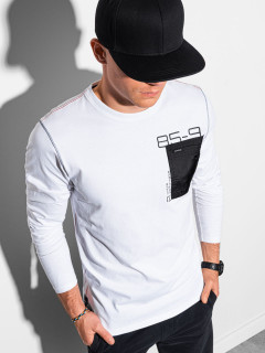 Marškinėliai ilgomis rankovėmis L130 (Balti) Samuel