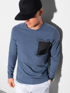 Marškinėliai ilgomis rankovėmis L130 (tamsiai mėlyni) Adam
