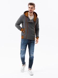 Vyriškas džemperis Desmond (pilkos ir rudos spalvos)