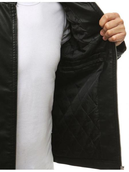 Vyriška odinė striukė Fill (Juoda)