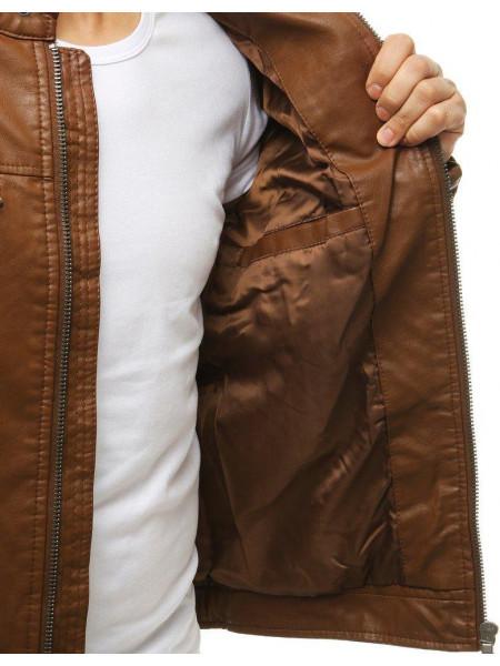 Vyriška odinė striukė (Karamelinė) Ted