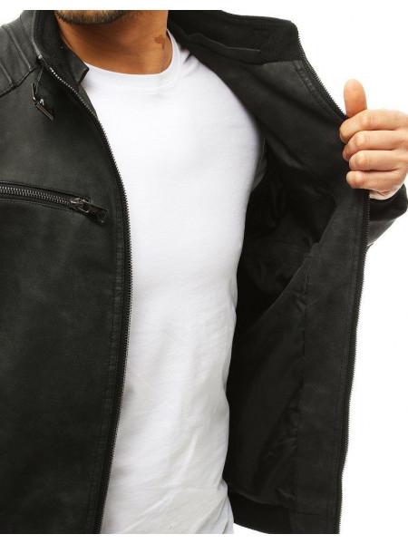 Vyriška odinė striukė (Juoda) Cryton