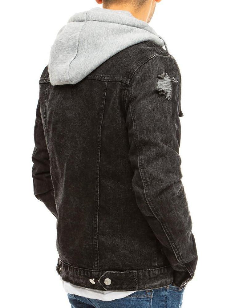 Vyriška džinsinė striukė (Juoda) Karlo