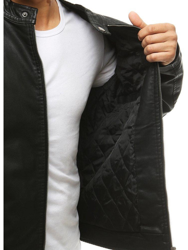Vyriška odinė striukė (Juoda) Alan