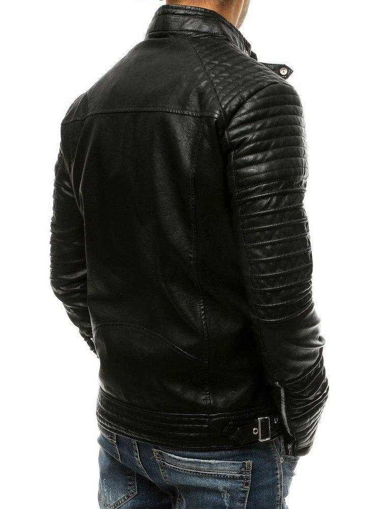 Vyriška odinė striukė (Juoda) Mark