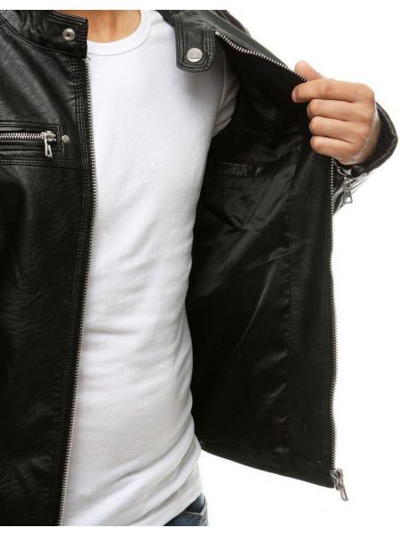 Vyriška odinė striukė (Juoda) Jammie