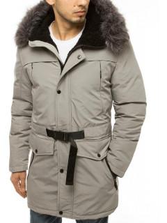 Vyriška žieminė striukė (šviesiai pilkos spalvos) Tedd
