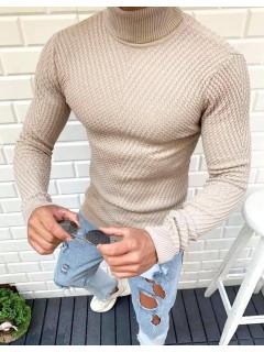 Vyriškas megztinis golfas (Rudas) Ernesto