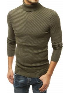 Vyriškas megztinis golfas(chaki spalvos) Marko