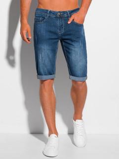 Vyriški džinsiniai šortai W353 - mėlyni Major