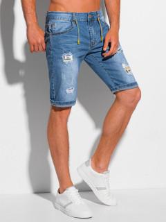 Vyriški džinsiniai šortai W355 - šviesiai mėlyni Sawyer