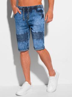 Vyriški džinsiniai šortai W357 - mėlyna Shaun