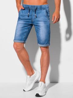 Vyriški džinsiniai šortai W358 - šviesiai mėlyni Shiloh
