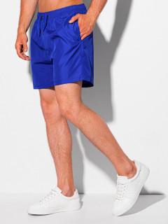Vyriški laisvalaikio šortai W340 (tamsiai mėlyni) Justin