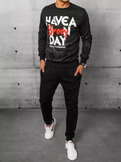 Vyriškas sportinis kostiumas (juodas) Bilac
