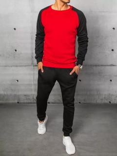 Vyriškas sportinis kostiumas su antspaudais (juoda-raudona) Neithan