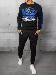 Vyriškas sportinis kostiumas su antspaudais (mėlyna-juoda) Nitar