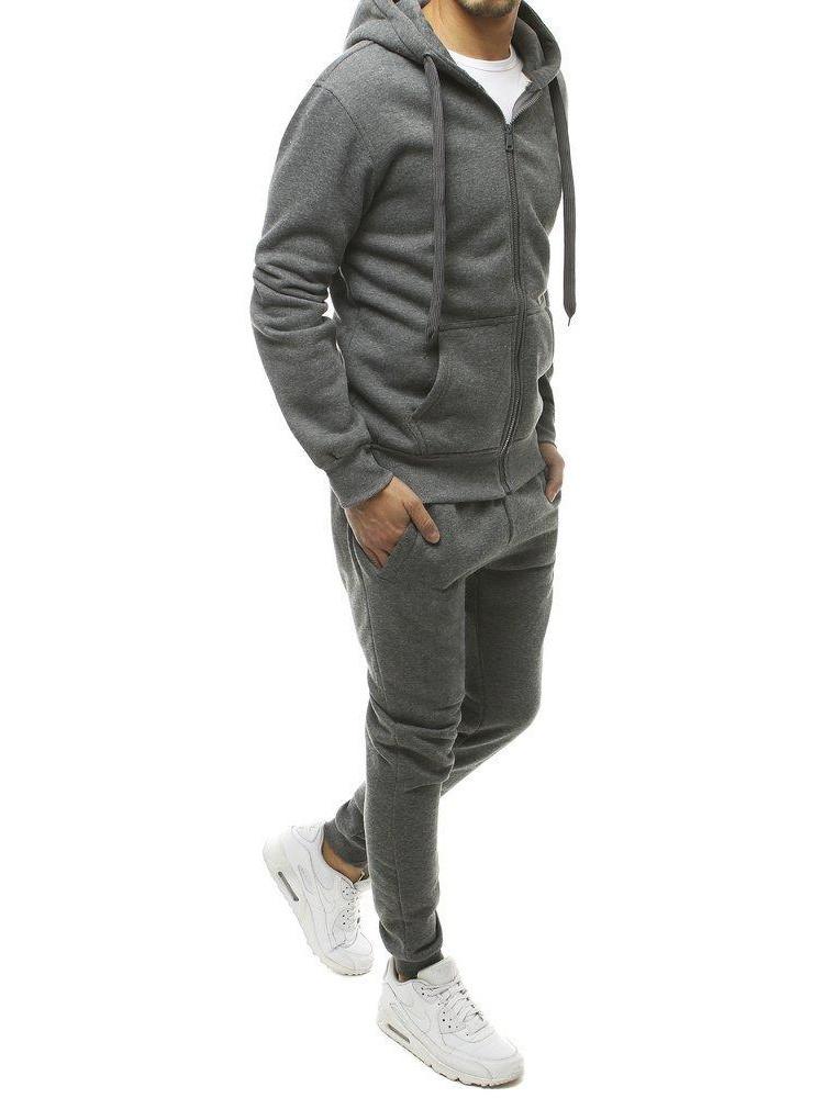 Vyriškas sportinis kostiumas (tamsiai pilkos spalvos) Charly