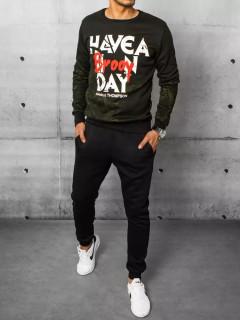 Vyriškas sportinis kostiumas (žaliai-juodas)  Benard